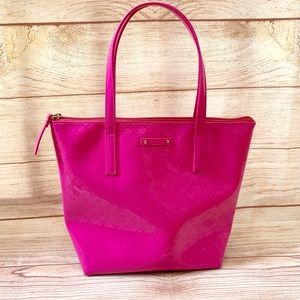 🍉Kate Spade Hot Pink Patent Leather Tote